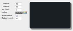 Générateur d'ombrage via box-shadow en CSS3