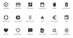 Banques d'icônes
